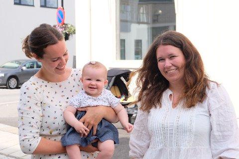 PERMISJON: Anne Marthe Mhyre Erlandsen (28) gleder seg til å åpne butikken, selv om hun egentlig fortsatt har barselpermisjon med datteren Filippa (7 måneder).