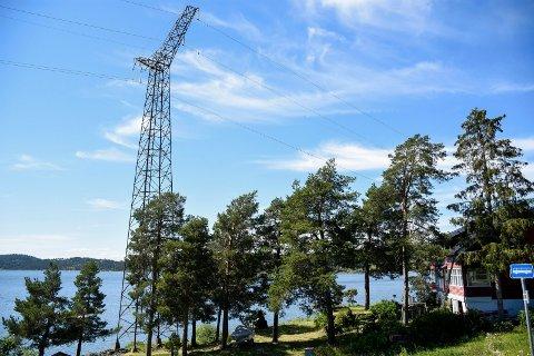 SKAL BORT: Høyspentlinja som strekker seg gjennom Åsa og videre over Nordmarka skal fjernes.