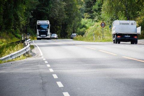 GANGVEI-ØNSKE: Strekningen Risesletta-Almemoen er en av 22 strekninger hvor det er ønske om gang- og sykkelvei.