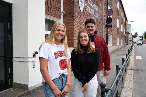 SKAL TA VAKSINE: Vilde Frog Mandt, Sanna Enger Haug og Eric Woldum Andersen