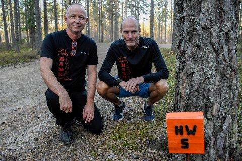 SISTE GANG: Generalsekretær Øyvind Bråten og president Tommy Olsen har merket løypa for siste gang.