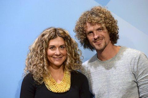 I gang med parken: Alexander Gamme  og Cecilie Skog har fart på planleggina av klatreparken, som de tar sikte på å åpne St. Hans.