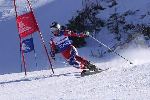 GOD: Amund Møster Haugen i knallform i Sveits. Selv så er han passe fornøyd. - Jeg har mer inne, sier Amund.. Foto: Norges Skiforbund