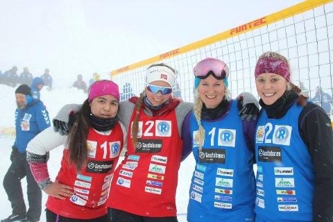 TIDENES FØRSTE: Slått, men fornøyde; Victoria Grefal og Emma Haugen Cvetkovic strevde litt under kalde og ukjente forhold, og Allvin/Öis ble for sterke.