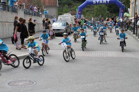 BARNEHELTEN: BarneHelten har vært en populær del av HelteRittet helt side nstarten for 9 år siden.