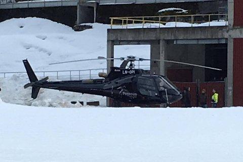 HELIKOPTERTRAFIKK: Hvis du har lurt på helikoptertrafikken i ettermiddag, så henger det sammen med innspillingen av Okkupert.