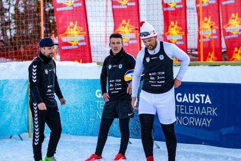 ER MED I SLUTTSPILLET: Rjukan har spillere med i laget Snøserve, som består av Trym Mogen, Arnes Napreljac som spiller sammen med Markus Herzeth Andersen.
