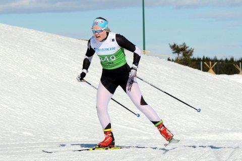 TØFF TREMIL: Vilde Flatland avsluttet den nasjonale skisesongen med å gå NM-tremil på Lygna. Nå venter en litt roligere periode for Atrå-jenta.