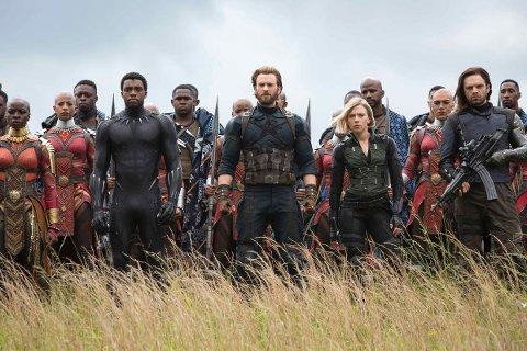 NESTE PÅ SØNDAG: Kjente superheltfjes i Avengers: Endgame, der onsdagskveldens premiere sannsynligvis blir utsolgt, og neste sjanse er først på søndag.