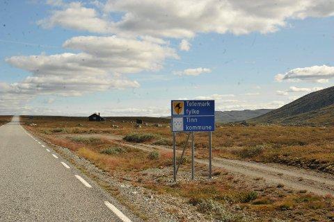 (arkivbilde) fylkesvei 755 (på Telemarksida) og fv 124 fra fylkesgrensa Buskerud
