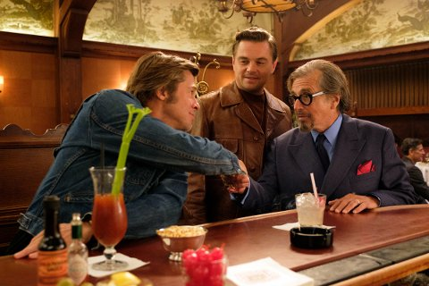 """Leonardo DiCaprio, Brad Pitt and Al Pacino in Columbia Pictures """"Once Upon a Time in Hollywood"""""""