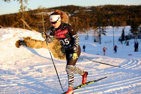 KJEMPESTART: Vera Flatland gikk fort og fikk en kjempestart på norgescupsesingen.