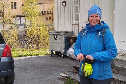 FORNØYD: etter Rjukan Vels dugnad flere steder i byen er frivilligsentralens Åshild Langeland fornøyd med alt som ble gjort.