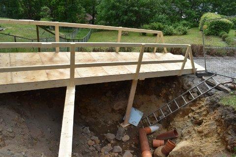 MER RØR: Vann- og avløsledninger fornyes på strekningen Villaveien - Sam Eydesgate.