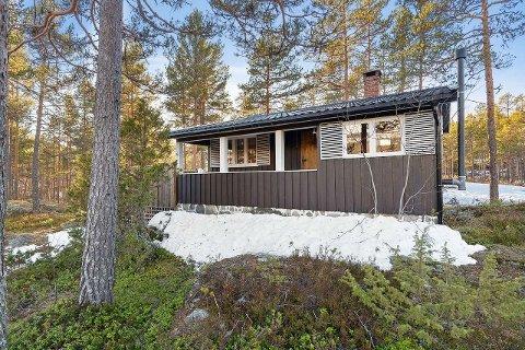 UNDER MILLIONEN: Denne hytta ved Sandvatn i Hovin er ikke blant de største i Tinn, men prisen er hyggelig.  (alle foto fra finn.no)