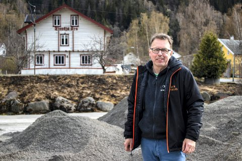 SPENT: Det er full guffe på Tinnsjø Kro og Camping om dagen. Bent Espen Haugen regner med at første bobil ruller inn 1. juni.