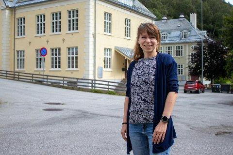 NY JOBB: Elzbieta Kowalska både gleder og gruer seg. Mandag begynner hun i ny jobb. som renholdsleder i Tinn kommune.