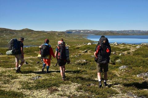 KALHOVD: Her fra et tidligere  l lederkurs for sommertur. På Hardangervidda i nærheten av  Kalhovd.