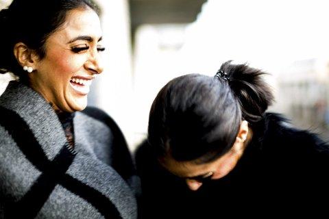 Latter: Tvillingjentene er bestevenner og gjør det aller meste sammen.
