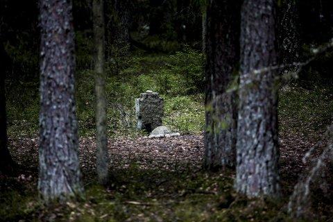 Under 2. verdenskrig ble det henrettet 194 menn i Trandumskogen. De ble lagt i til sammen 18 fellesgraver. FOTO:Tom Gustavsen.
