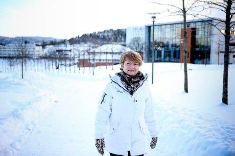 Lørenskog-ordfører Ragnhild Bergheim bor på Rasta, og prøver så ofte hun kan å gå til og fra jobben i Lørenskog rådhus.Foto: Tom Gustavsen.