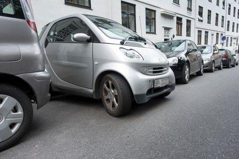 Smart-bil parkert i gaten. Foto: Gorm Kallestad (NTB scanpix)