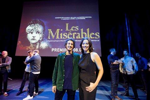 FÅR SELSKAP: Lars Aarnes og Marion Ravn, begge fra Lørenskog, skal spille to av hovedrollene i Les Misérables på Folketeateret.