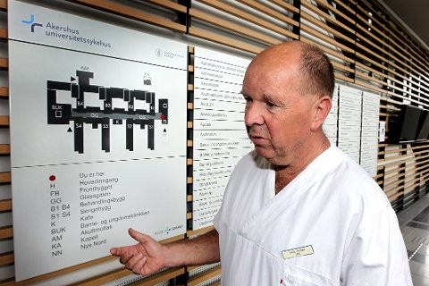 OLørenskog: Aage Karsten Huseby (lege ved Ahus) uttaler seg om kapasitetsproblemer ved sykehuset.