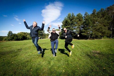 F.v. Jan Martinsen, Ronny Bergersen og Fredrik Østbye lanserer ny festival på Nebben neste sommer.