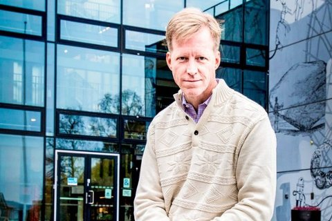 Curt Rice har sittet 100 dager som rektor ved Høgskolen i Oslo og Akershus. Foto: Vidar Sandnes
