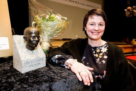 Rektor: Ellen Marie Gloppen er stolt over prisen skolen har mottatt.