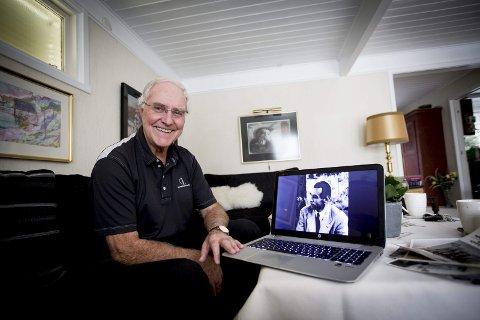 Følte et ansvar for å skrive: Tore Haug brukte seks år på å skrive den dramatiske historien om Jan Baalsrud. I forbindelse med at boka blir film, relanseres den. Forfatter Haug signerer bøker på Ark Jessheim 7. desember. FOTO: LISBETH LUND ANDRESEN