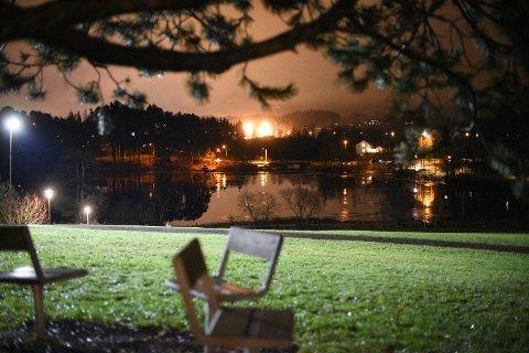 NYTT OVERFALL: Hendelsen skal ha skjedd ved Langvannet i Lørenskog. FOTO: VIDAR SANDNES