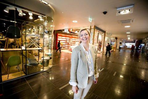 OMSETNINGSREKORD: På Jessheim storsenter var julehandelen rekordhøy, ifølge senterdirektør Christin Brandt.