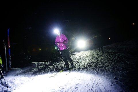 NOK SNØ: Silje Pettersson i aksjon under en tidligere måneskinnstur.Foto: Martin Lundsvoll