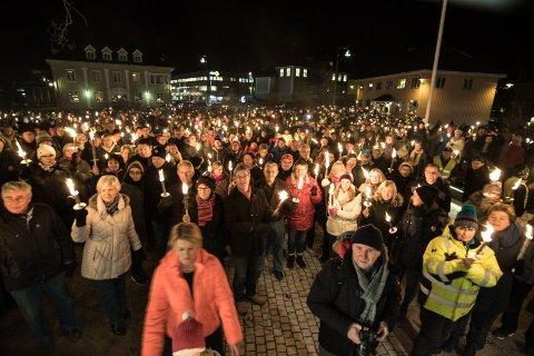 FØRTE IKKE HELT FRAM: Den store mobiliseringen for Nes lensmannskontor førte bare til at det fortsatt vil være et tjenestested på Årnes.Foto: Per Stokkebryn
