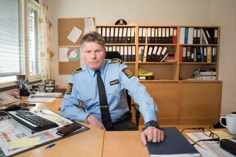 Etterforsker: Politioverbetjent Geir Bakk Anthonsen ved Nittedal lensmannskontor ser alvorlig på hendelsen.