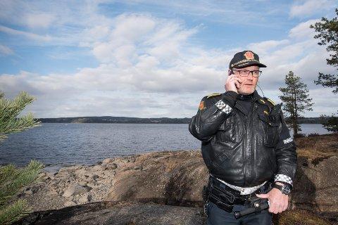 Politiets innsatsleder Ronny Samuelsen.