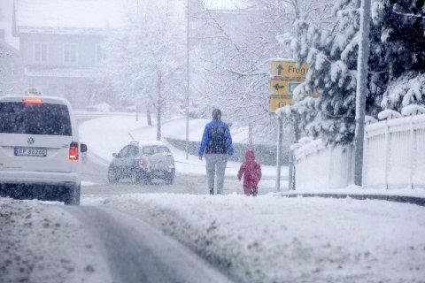 Snø i april er ikke uvanlig. Så var det Murphys lov som slo til mandag?