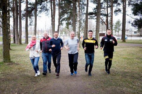 LØP: Anne Merete Rodem (til venstre), Ingeir Slettemoen i Minerva, Øyvind Ørbeck i BDO, RB-redaktør Magne Storedal, Espen Søgård og Marius Amundsen i LSK.