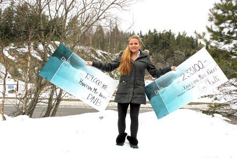 STORSAMLER: Michelle Enger har samlet inn over én million kroner til Kreftforeningen etter morens død. Foto: Britt Hoffshagen