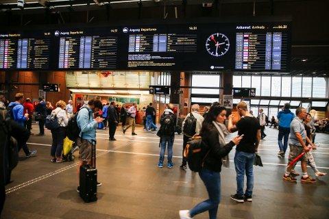 De neste ukene skal det gjøres omfattende arbeider på og rundt Oslo S. Foto: Terje Pedersen / NTB scanpix