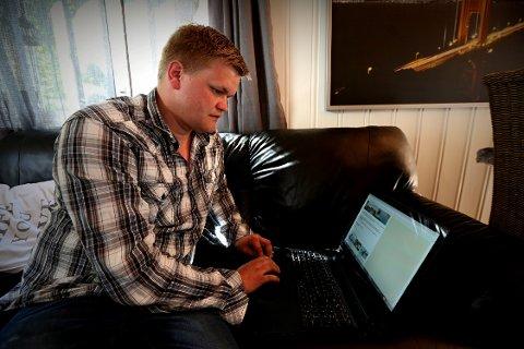 Terje Henning Karlsen søker reisefølge på nett.