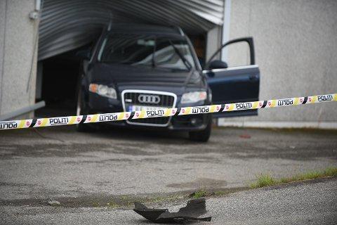 TORPEDERT: Denne Audien ble brukt som rambukk under sjokkbrekket.