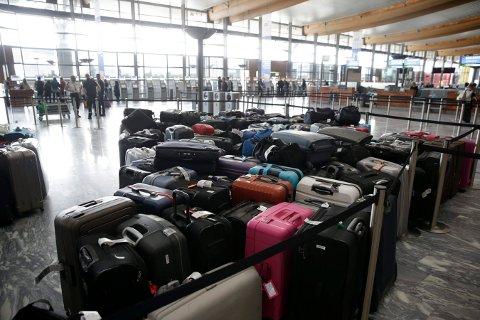 TRØBBEL: Kofferttrøbbel på flyplassen. Dette bildet er tatt ved en annen anledning.  Foto: Håkon Mosvold Larsen / NTB scanpix