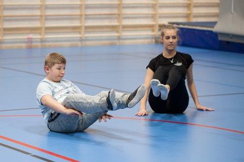 STORTRIVES: Viktor (13) har funnet seg godt til rette på Turn for alle.