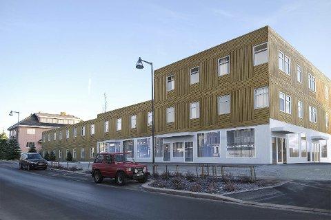 NY MOTBØR: Eieren av Sentrumsgården på Årnes får igjen tommelen ned fra rådmannen. Illustrasjon: Husdrømmen Arkitektur AS