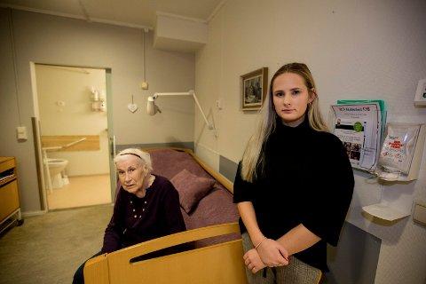 TRIVES: Anna Sofie Øistad (88) flyttet inn på Libos for et halvt år siden. Hun trives veldig godt på avdelingen som nå skal legges ned.