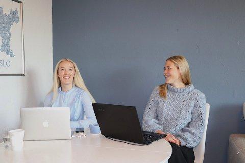 VENNINNER: Madeleine Modin Kjellman (t.v) og Ragnhild Oskarsen (t.h) holder et klart skille mellom å være venninner og kollegaer.