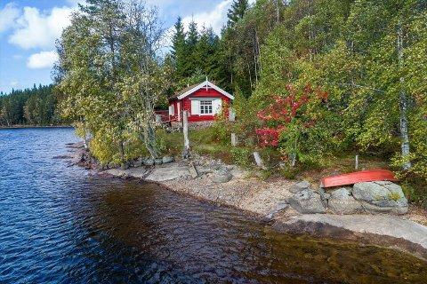 Populær: Denne hytta kan man kun nå med bil fra Oslo.